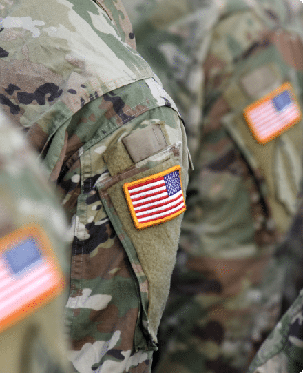 Veterans with American Flag